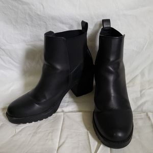 Divided Pleather Ankle Boots